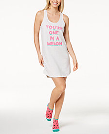 Jenni by Jennifer Moore Screen-Print Keyhole Sleepshirt With Socks, Created for Macy's