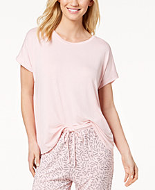 DKNY Cross-Back Short Sleeve Pajama Top