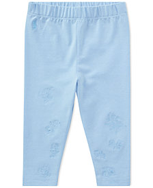 Ralph Lauren Embroidered Leggings, Baby Girls