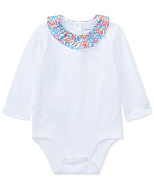 Ralph Lauren Cotton Bodysuit, Baby Girls