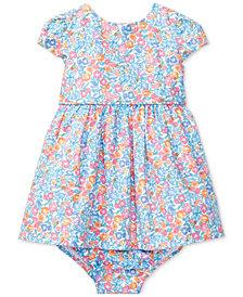 Ralph Lauren Floral-Print Cotton Dress, Baby Girls