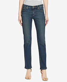Lauren Jeans Co. Petite Super-Stretch Straight-Leg Jeans