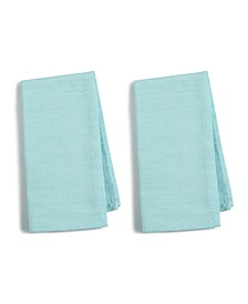 CLOSEOUT! 2-Pc. Teal Cotton Napkin Set, Created for Macy's