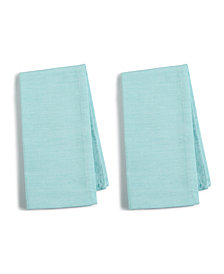 Martha Stewart Collection 2-Pc. Teal Cotton Napkin Set, Created for Macy's