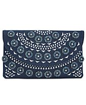 I.N.C. Huw Denim Floral Small Clutch, Created for Macy's
