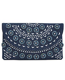 I.N.C. Huw Denim Floral Clutch, Created for Macy's