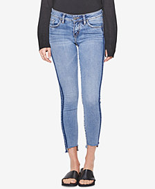 Silver Jeans Co. Side-Stripe Skinny Jeans