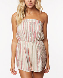 O'Neill Juniors' Shayla Printed Strapless Romper