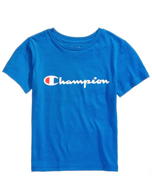 e1cefc63a Champion Heritage Logo-Print T-Shirt, Toddler Boys & Reviews ...