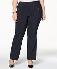 I.N.C. Plus Size Wide-Leg Pants, Created for Macy's