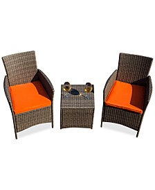 Patio Festival 3-piece Chair & Side Table Set