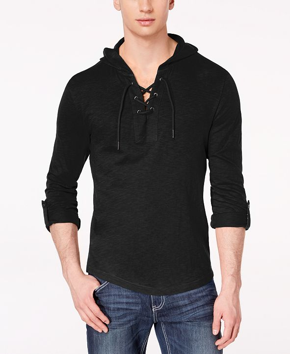 INC International Concepts INC Men's Hooded T-Shirt, Created for Macy's