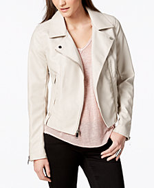 French Connection Faux-Leather Peplum Jacket