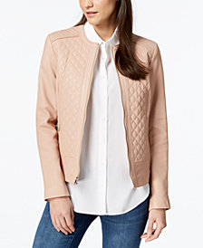 Cole Haan Quilted Leather Jacket