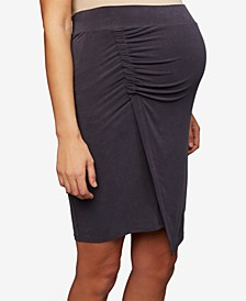 Maternity Ruched Pencil Skirt