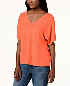 Eileen Fisher Organic Linen Dolman-Sleeve Sweater, Regular & Petite