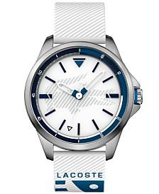 Lacoste Men's Capbreton White Silicone Strap Watch 46mm