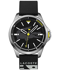 Lacoste Men's Capbreton Black Silicone Strap Watch 46mm