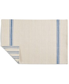 CLOSEOUT! Striped Navy Cotton Placemat, Created for Macy's