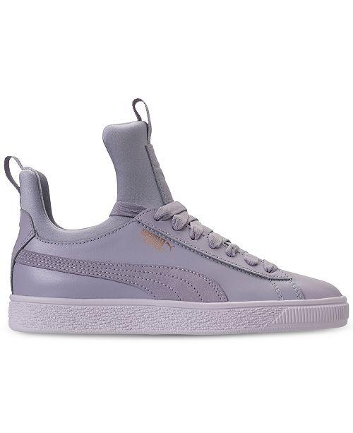 a57615d92911 ... Puma Big Girls  Basket Fierce High Top Casual Sneakers from Finish ...