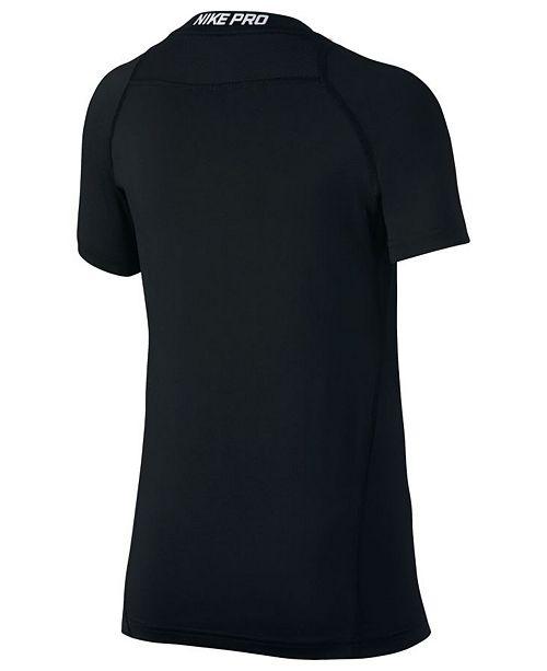 fd65d71b0dd3 Nike Big Boys Pro Logo-Print T-Shirt   Reviews - Shirts   Tees ...