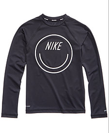 Nike Logo-Graphic Rash Guard Swim Top, Little & Big Girls