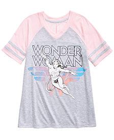 DC Comics Wonder Woman Raglan T-Shirt, Big Girls