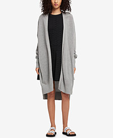DKNY Long Open-Front Cardigan, Created for Macy's