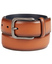 Original Penguin Men's Burnished Bird Leather Belt