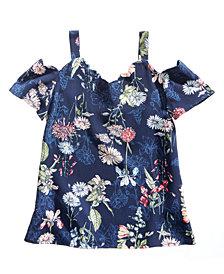Monteau Floral-Print Top, Big Girls