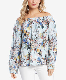 Karen Kane Floral-Print Off-The-Shoulder Neckline