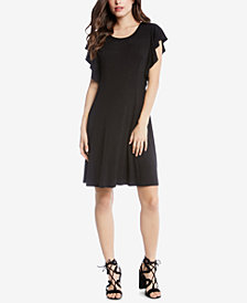Karen Kane Flutter-Sleeve A-Line Dress