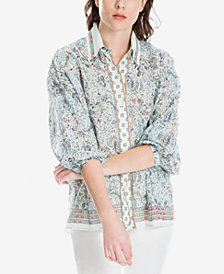 Max Studio London Cotton Printed Shirt, Created for Macy's