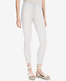 Max Studio London Lace-Up Skinny Jeans, Created for Macy's