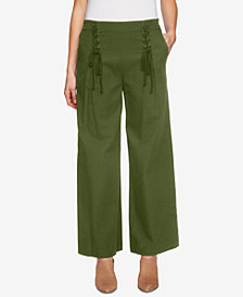 1.STATE Lace-Up Wide-Leg Pants