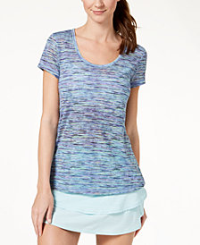 Ideology Space-Dyed Mesh-Back T-Shirt, Created for Macy's