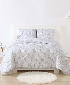 My World Printed Dot Pinch Pleat Bedding Sets