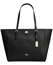 COACH Laptop Tote in Crossgrain Leather