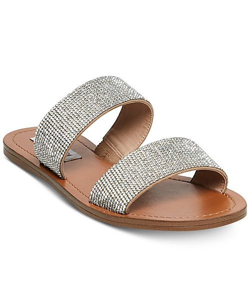 fba37e883 Steve Madden Rage Embellished Slide Sandals   Reviews - Sandals ...