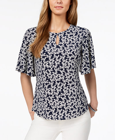 Charter Club Flutter-Sleeve Top, Created for Macy's