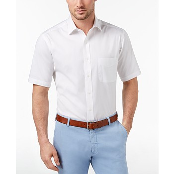 Club Room Men's Classic/Regular Fit Wrinkle-Resistant Dress Shirt