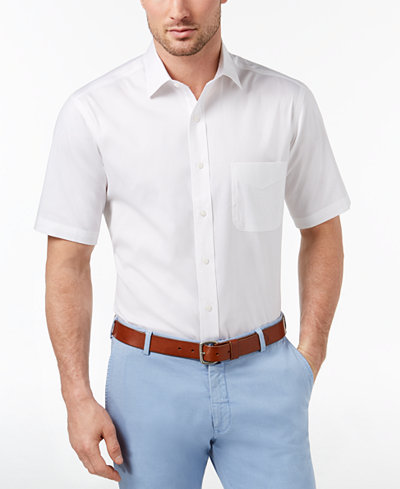 Club Room Men's Classic/Regular Fit Wrinkle-Resistant Dress Shirt, Created for Macy's