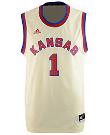 adidas Men's Kansas Jayhawks Hardwood Replica Basketball Jersey