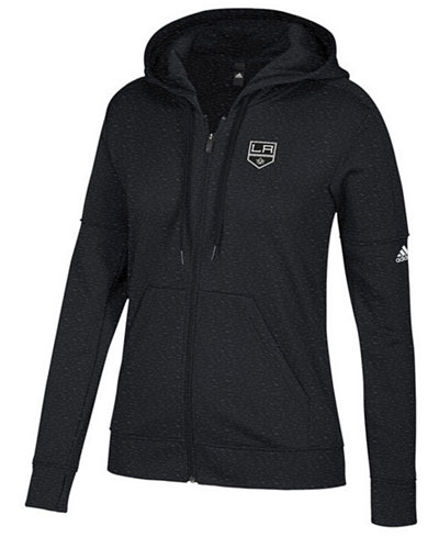 adidas Women's Los Angeles Kings Logo Stitched Full-Zip Hooded Sweatshirt