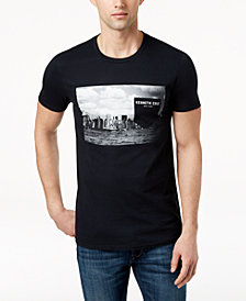 Kenneth Cole New York Men's Graphic-Print Faux-Pocket T-Shirt