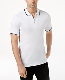 Kenneth Cole Men's Tipped 1/4-Zip Polo