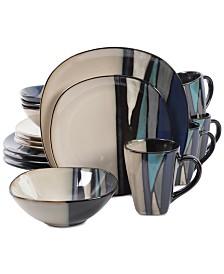 Gibson Althea Teal 16-Pc. Dinnerware Set