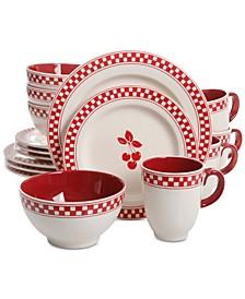 General Store Cherry Diner 16-Pc. Dinnerware Set