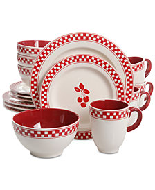 Gibson General Store Cherry Diner 16-Pc. Dinnerware Set