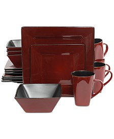 Gibson Kiesling Red 16-Pc. Dinnerware Set